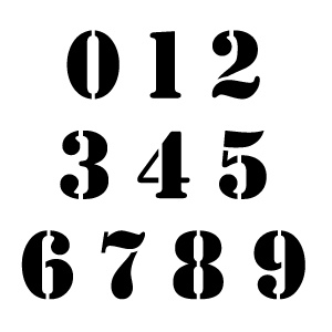 Military Number Stencils