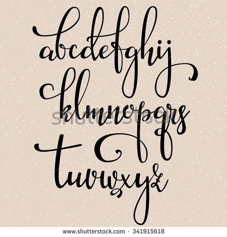 Modern Cursive Calligraphy Alphabet