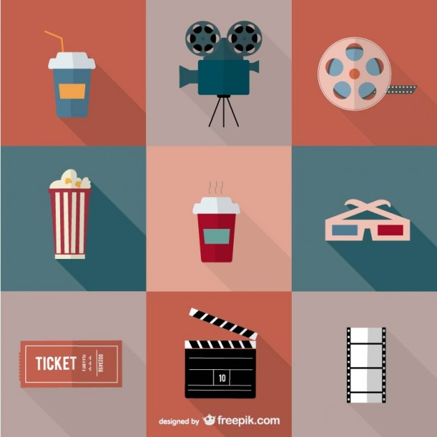 Movie Icons Vector Free