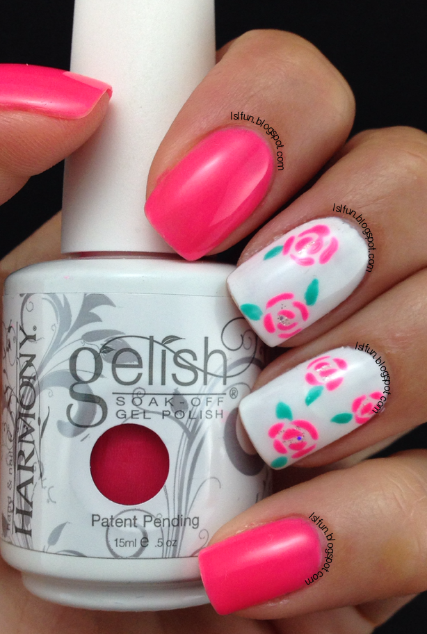 6 Rose Nail Art Design Images