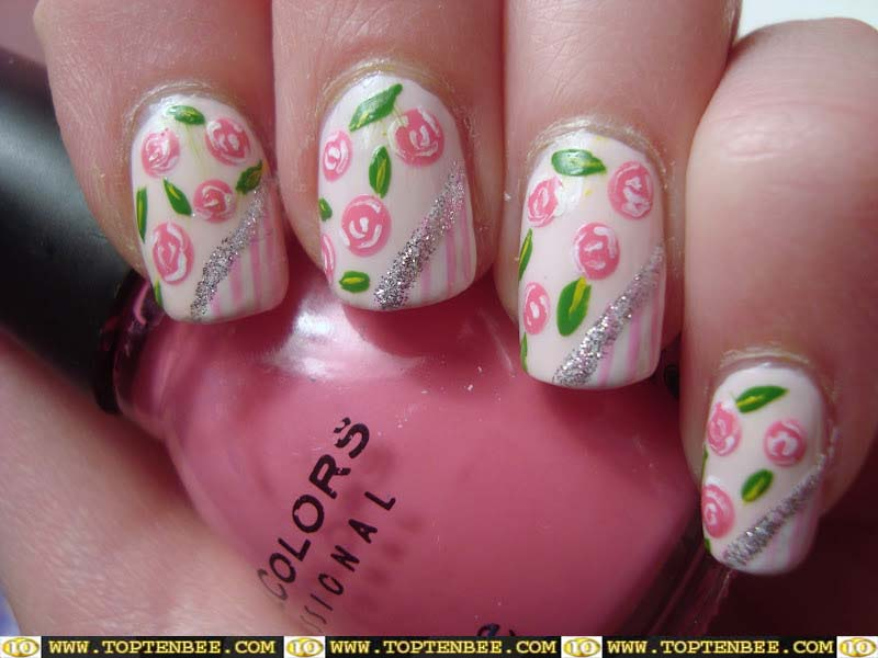 Nail Designs with Roses