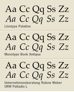12 And Book Antiqua Palatino Font Images