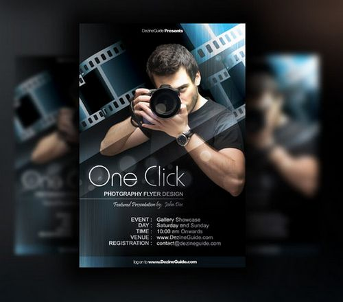 17 Photography Psd Poster Images