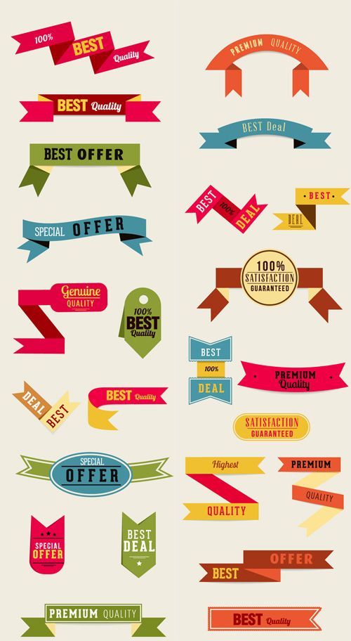 Photoshop PSD Vector Ribbon