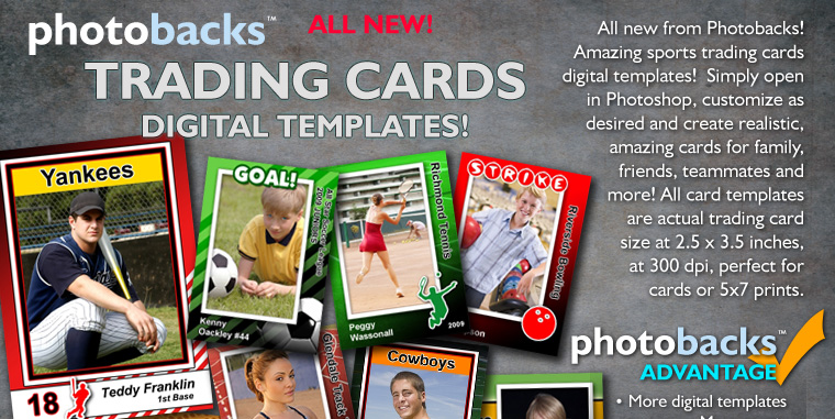 photoshop trading card template