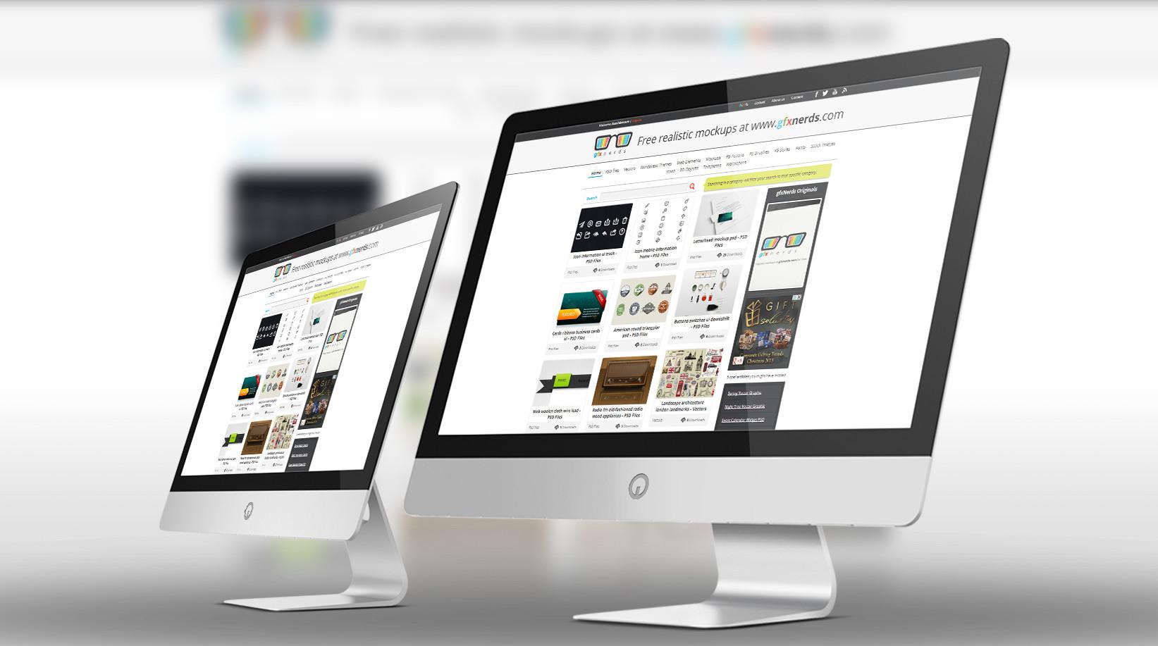 14 Desktop Mockup PSD Images