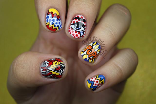 11 Pop Art Nail Designs Images