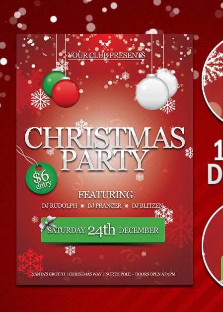 image about Free Printable Christmas Party Flyer Templates identified as 15 Xmas Vacation Flyer Templates Free of charge Visuals - No cost