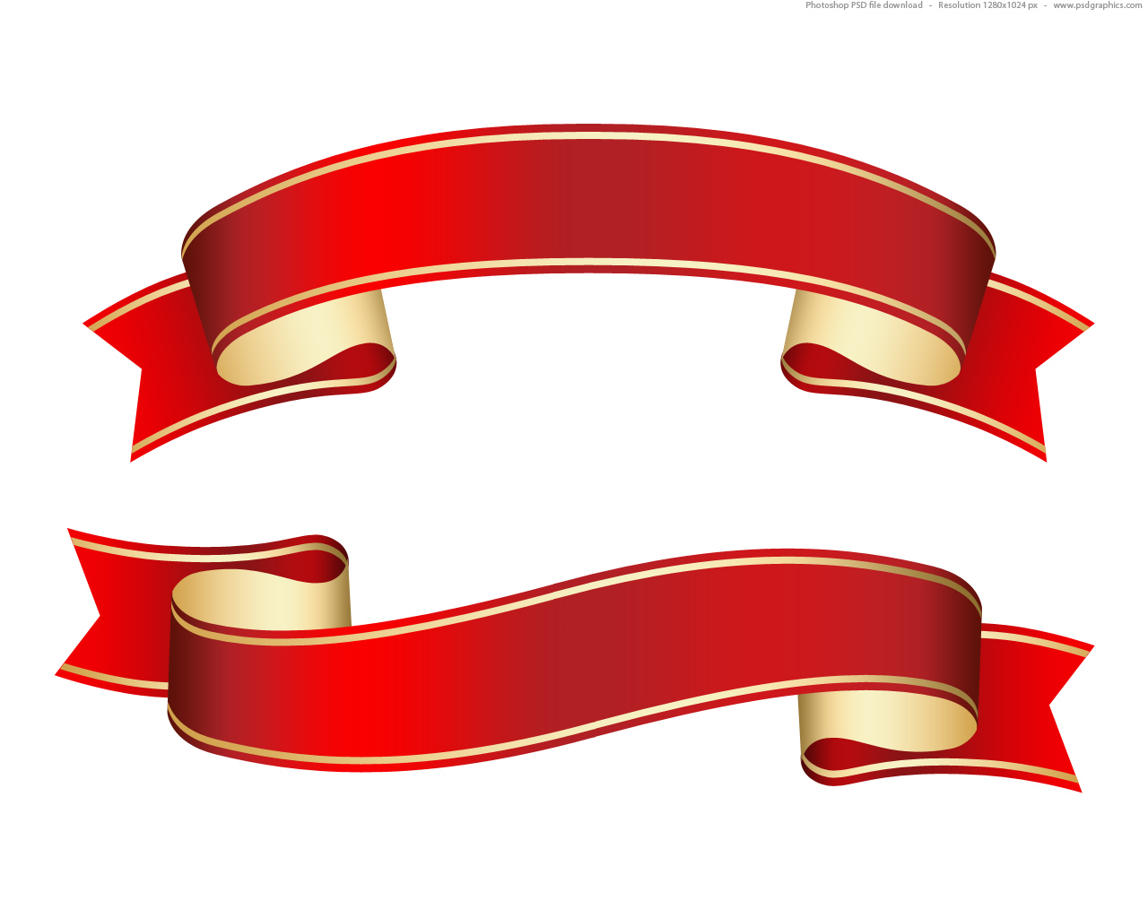 Red Ribbon Banner Vector