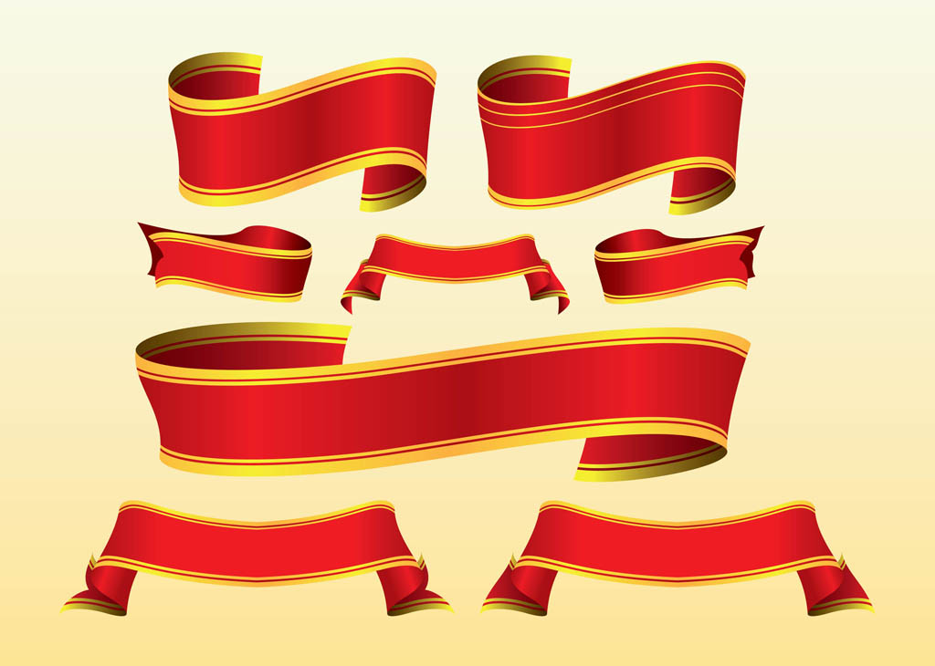 Red Ribbon Scroll Banner Clip Art Free