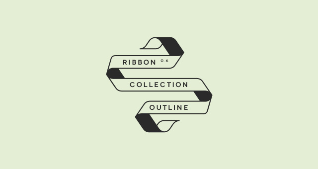 Ribbon Outline Vector