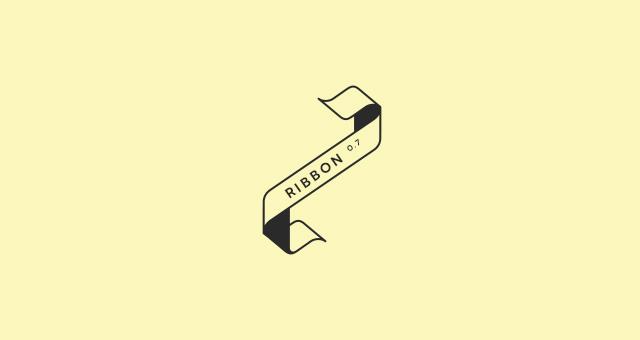 Ribbon Outline Vector