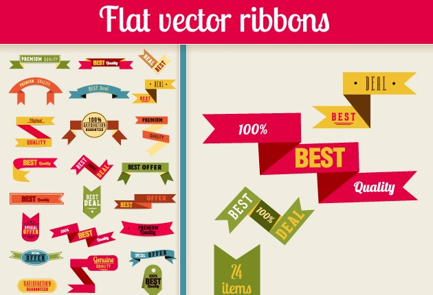 Ribbons Vector Design