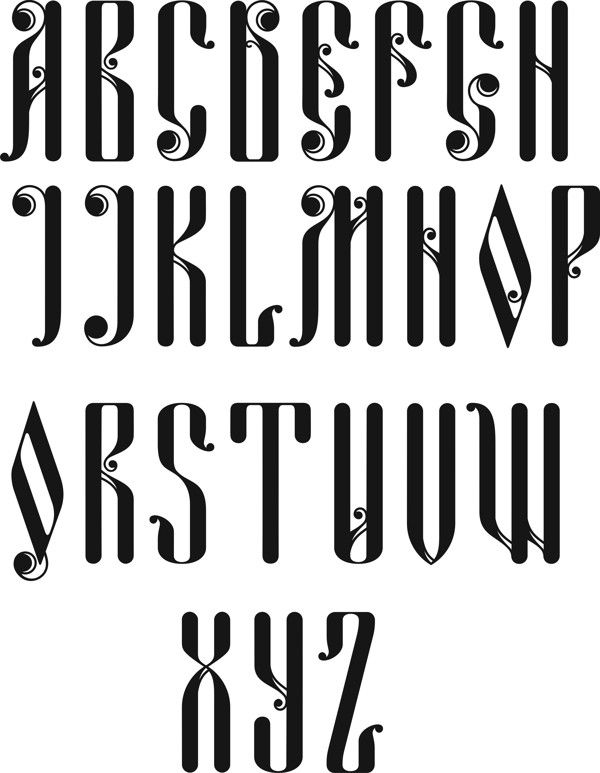 Russian Cyrillic Alphabet Fonts
