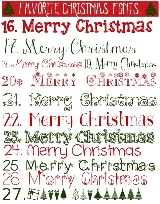 Favorite free christmas fonts images best