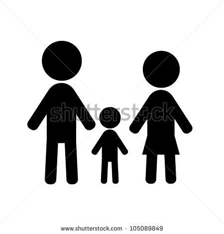 Silhouette Stick Figure Family