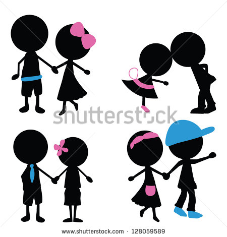 Stick Figure Silhouette Vector