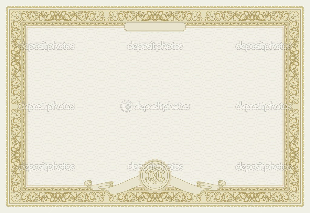 Stock Certificate Border Template