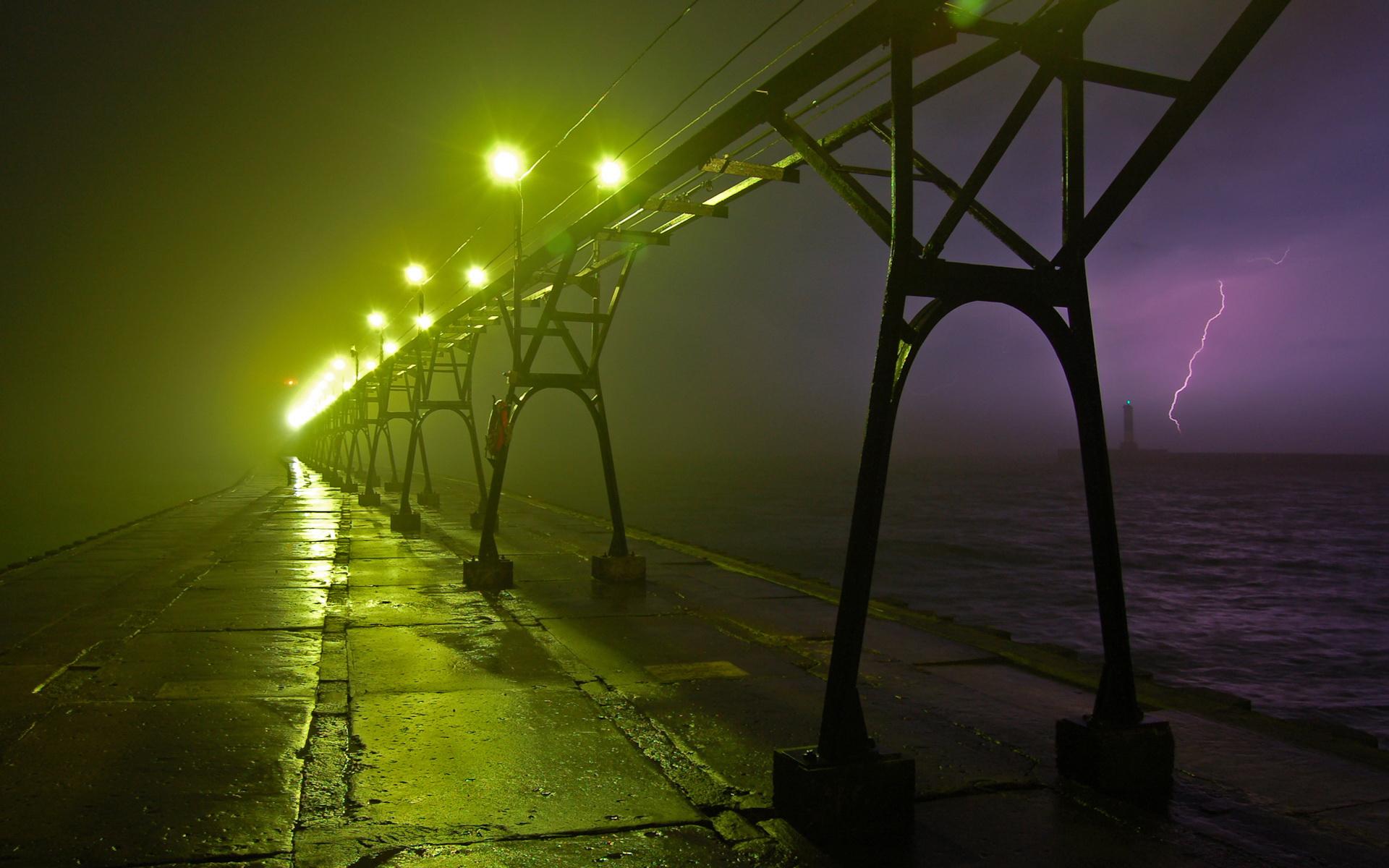 Stock Image of Rainy Street