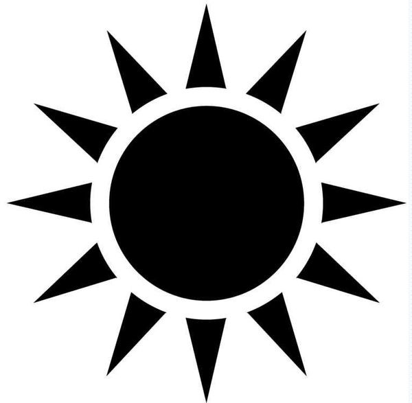 16 Sun Vector Black Images