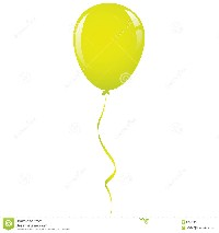Single Balloon with String Clip Art