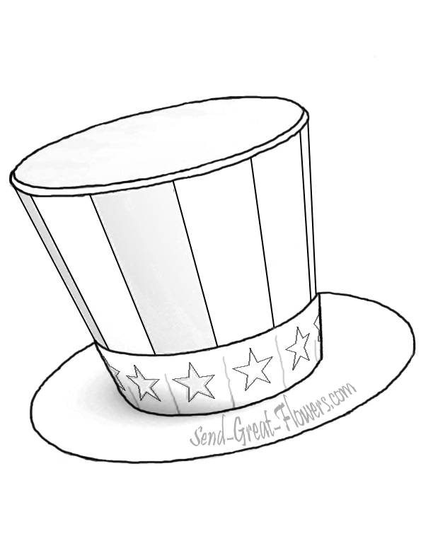 Top Hat Printable Coloring Page