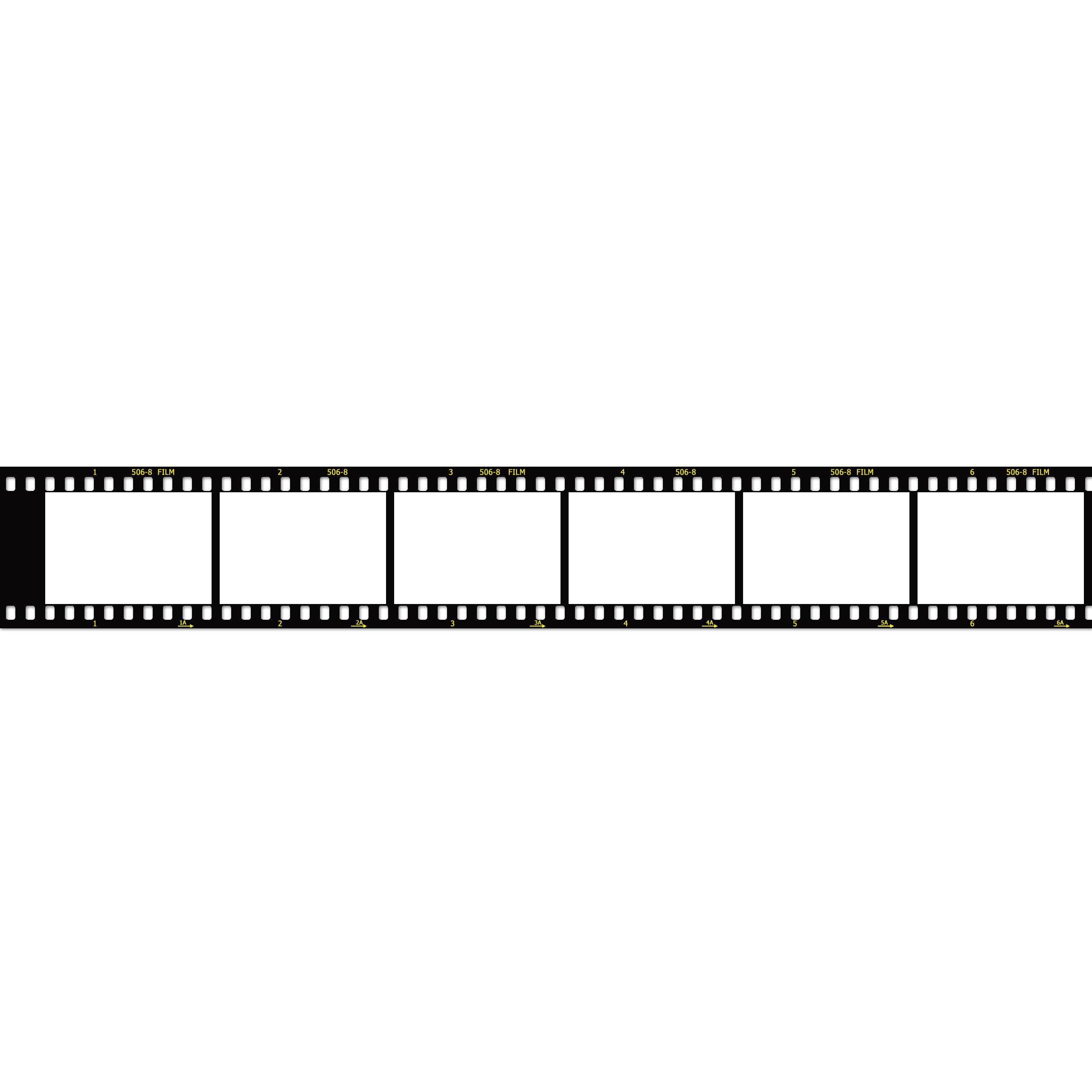 Transparent Film Strip Template