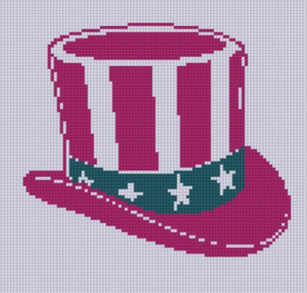 Uncle Sam Cross Stitch Pattern