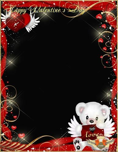 12 Cute Bears Photoshop Frame PNG Images