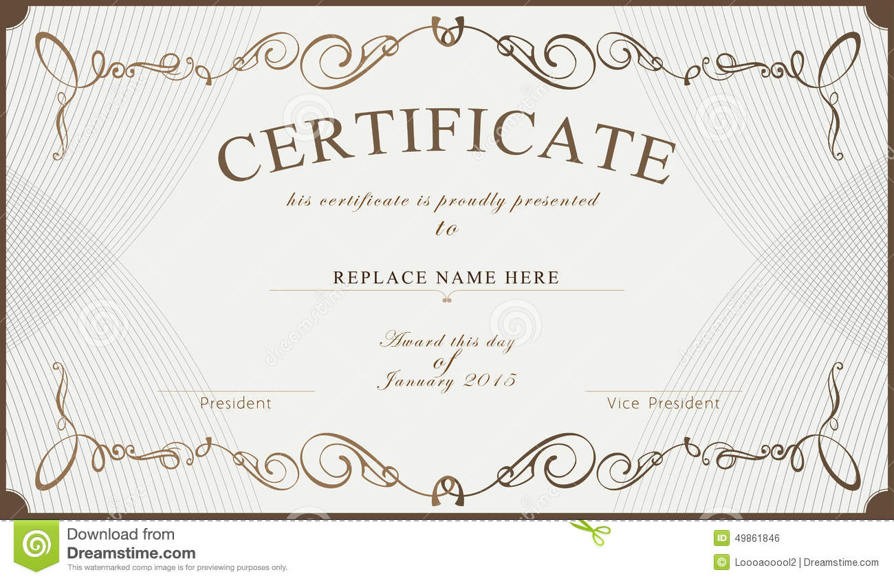 Vector Certificate Border Templates