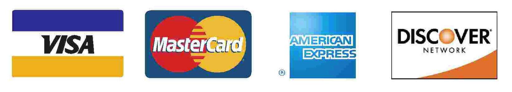 Visa MasterCard Discover American Express Card Logo