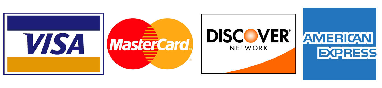 Visa MasterCard Discover Credit Card Logos