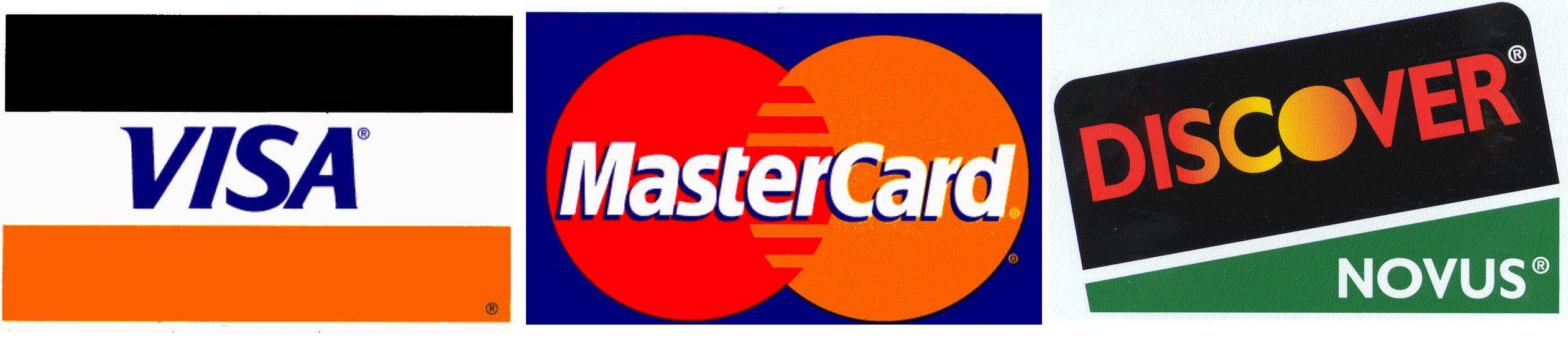Visa MasterCard Discover Credit Card