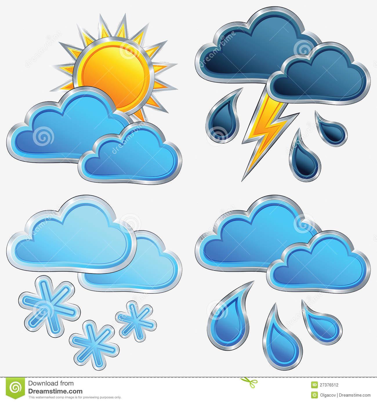 Weather Icons Sun and Rain