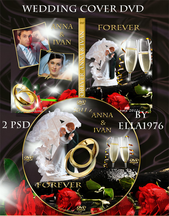 8 PSD Wedding DVD Cover Images