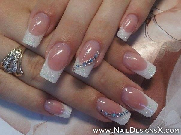 Wedding French Tip Nail Designs