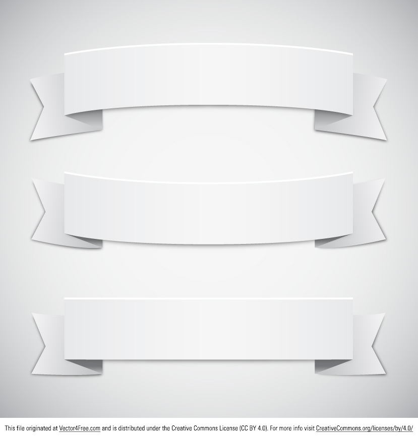 19 White Banner Vectors Free Images