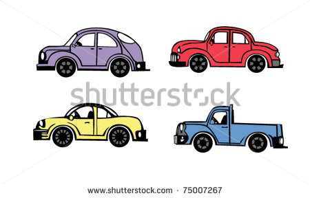 White Cartoon Car