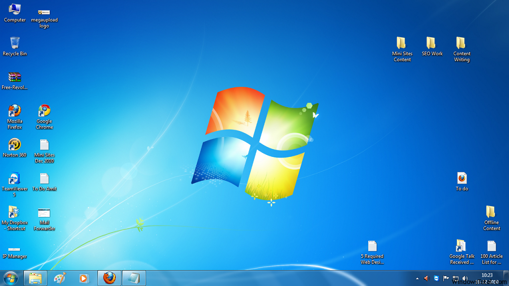 9 Windows 7 Desktop Icons Images