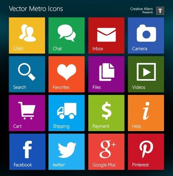 17 Windows 8 Metro Icons Font Images