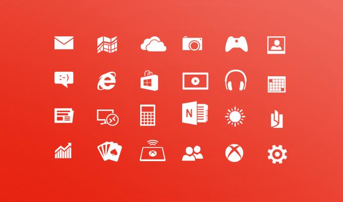 Windows Phone 8 Metro Icons