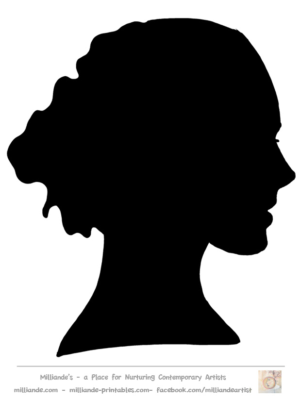 Woman Side Face Silhouettes