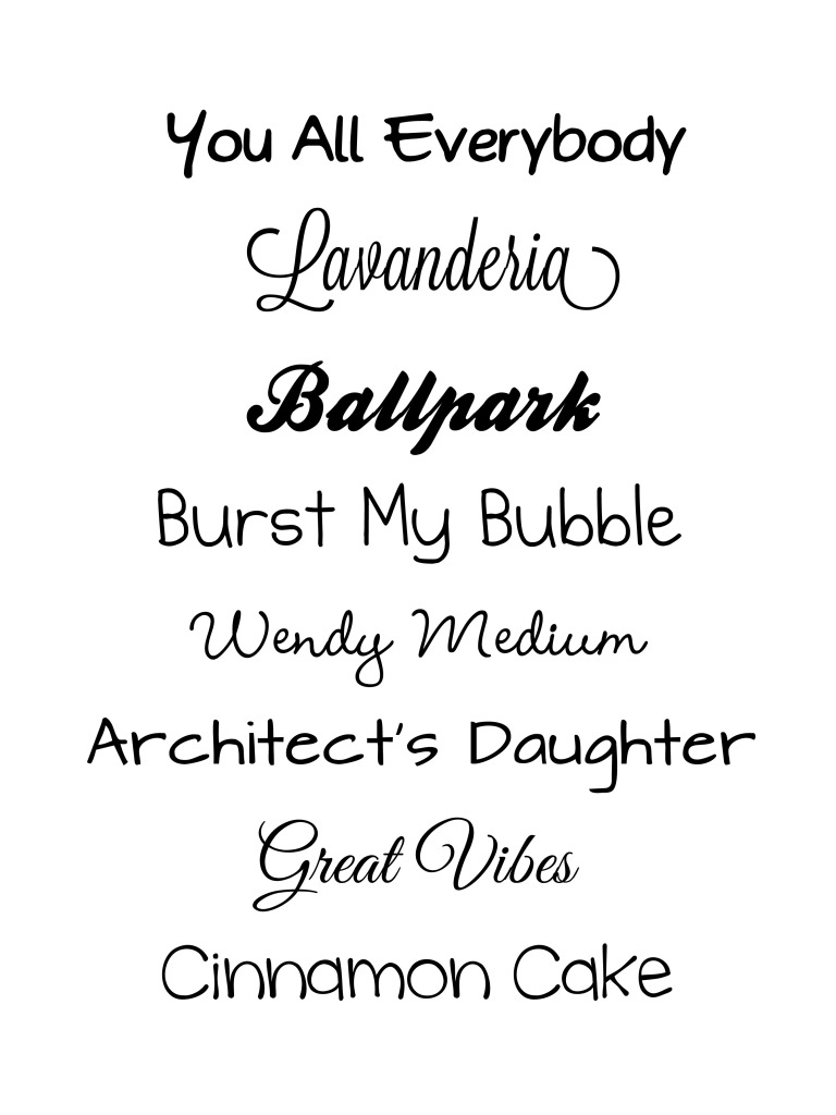 13 Free Word Fonts Images - Microsoft Word Font Styles, My Favorite