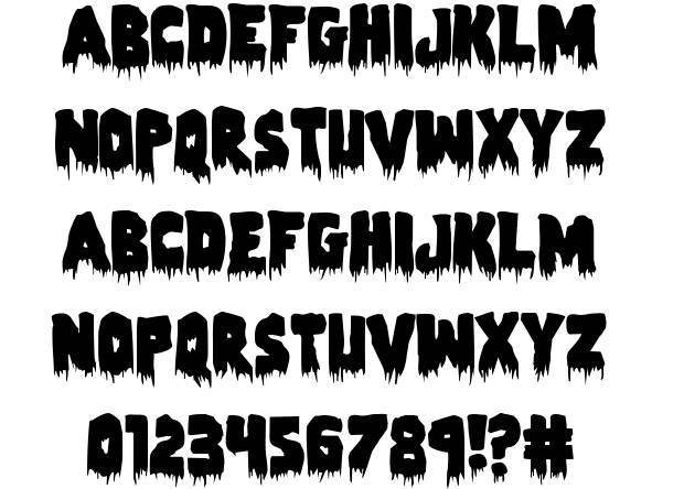 9 Zombie Holocaust Font Numbers Images