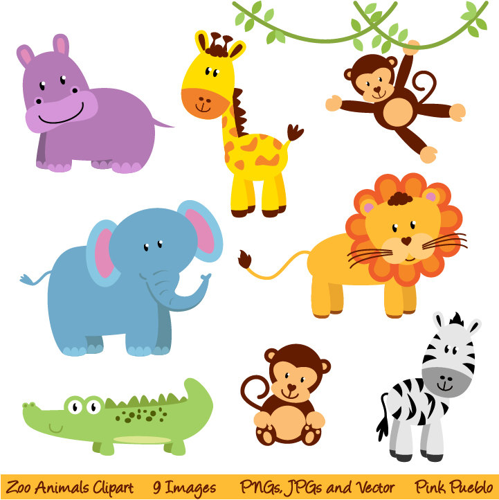 18 Free Printable Safari Animals Vector Images