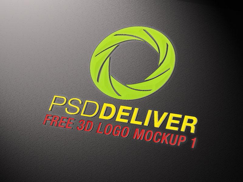 19 Free Logo Mockup PSD Images - Free PSD Logo Mockup Templates, 3D