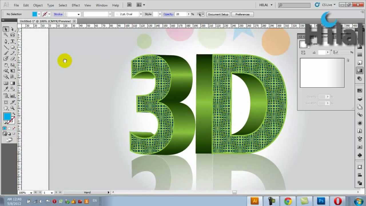 Adobe Illustrator 3D Text Design
