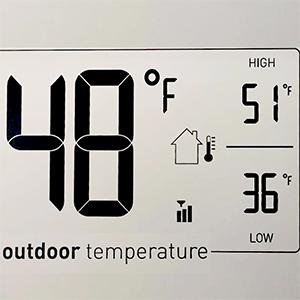 Amazon Atomic Clock Indoor Outdoor Temperature