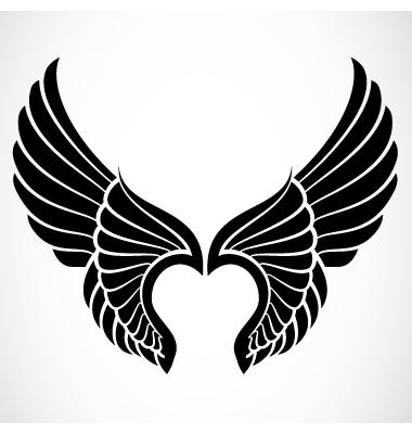 18 Black Angel Wings Vector Images