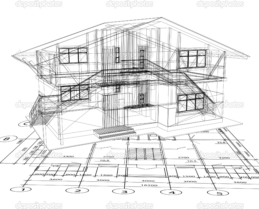13 vector house blueprint images free vector house for Architecture blueprints free